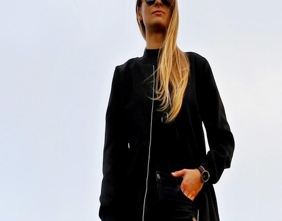 BLACK COAT BY SM
