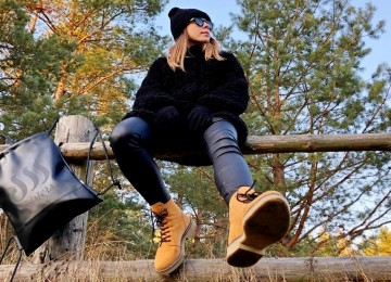 BLACK FRANSA FUR COAT IN MAZURY