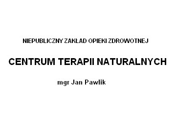Centrum terapii naturalnych
