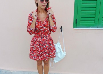 TOTAL LOOK WITH FLOWER MOTIF